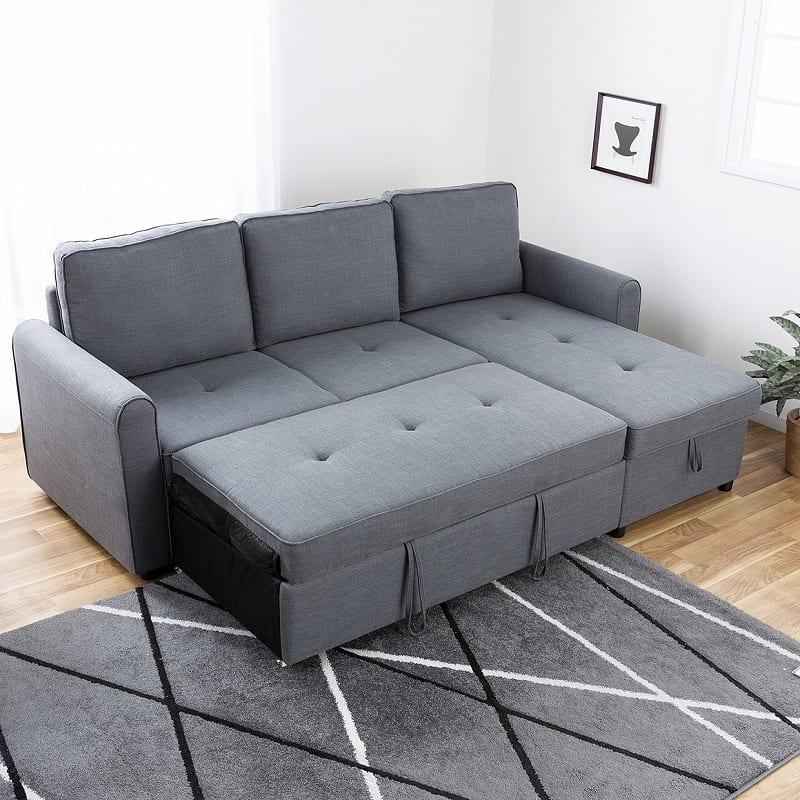 :横になりたい時にはベッドタイプにチェンジ!