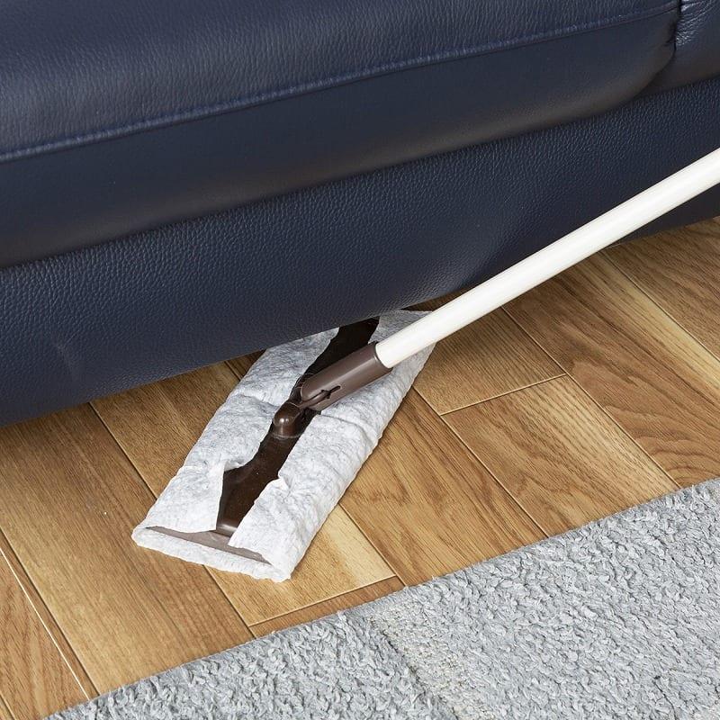 3人掛けソファ デビュー071 3S NBL(本革NBL):掃除しやすい高さ設計
