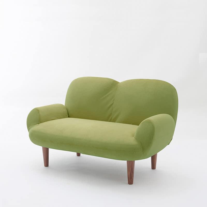 コンパクトソファ キュート グリーン:選べるカラーは5色、座面はポケットコイル仕様でふんわり。