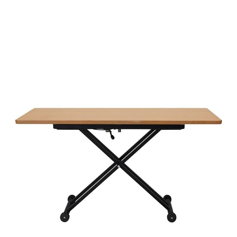 昇降テーブル Xリフト2 120K 天板ナチュラル色/脚ブラック