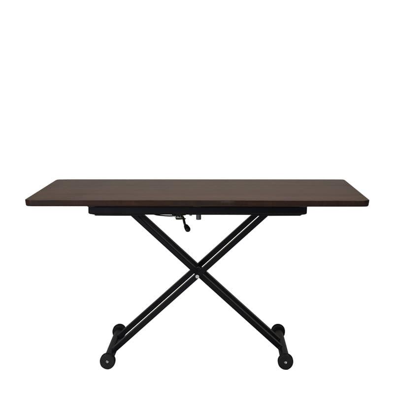 昇降テーブル Xリフト2 120K 天板ウォールナット色/脚ブラック