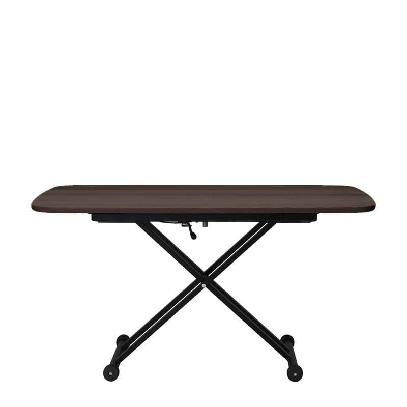 昇降テーブル Xリフト2 120F 天板ウォールナット色/脚ブラック