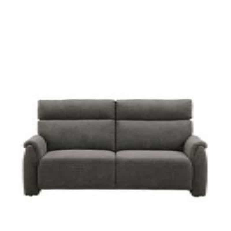 3人掛けソファ クラム DGY:収納付きソファーでリビングを広々有効活用