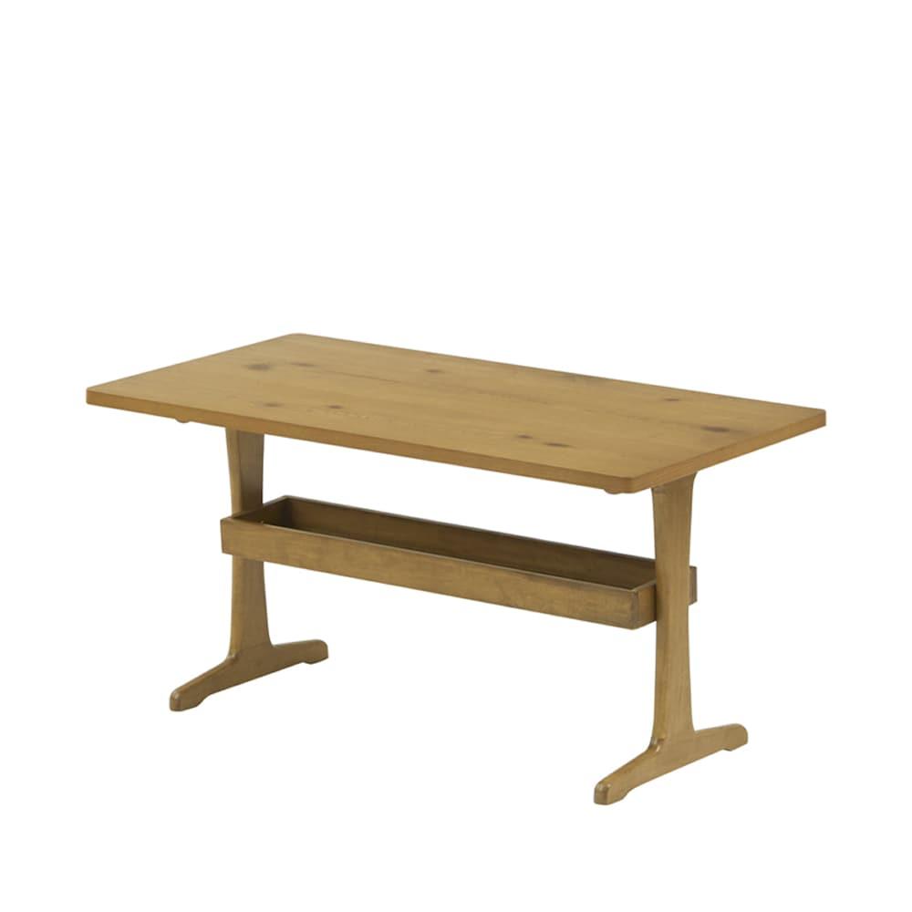 リビングテーブル オークスタイル MCT110 NA:棚付きで収納に便利です