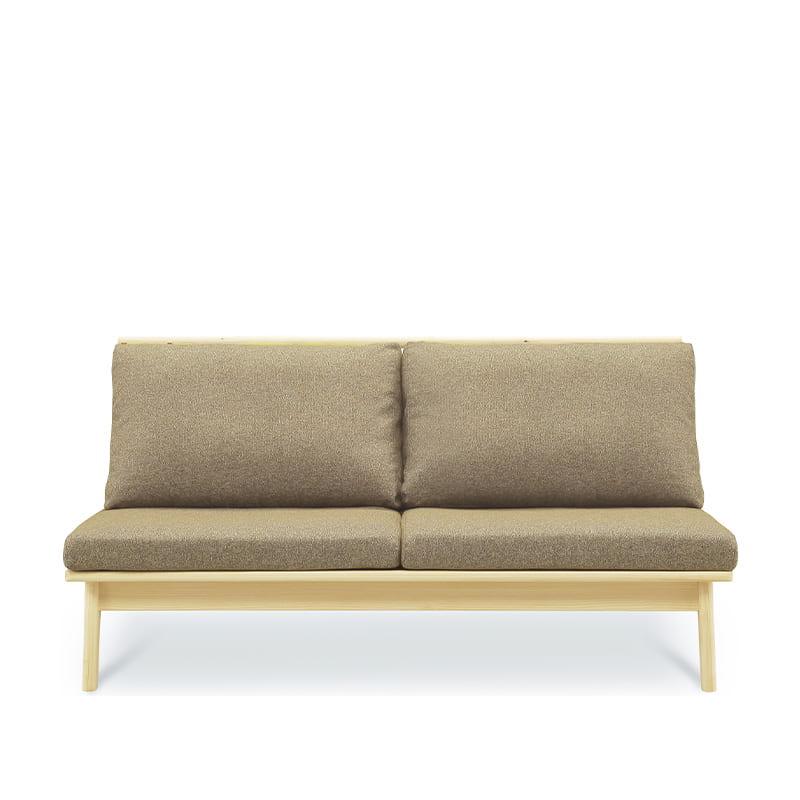 2人掛けソファ 柚160ソファ LBR/GRE:全て国産ヒノキ無垢材を使用したソファ。