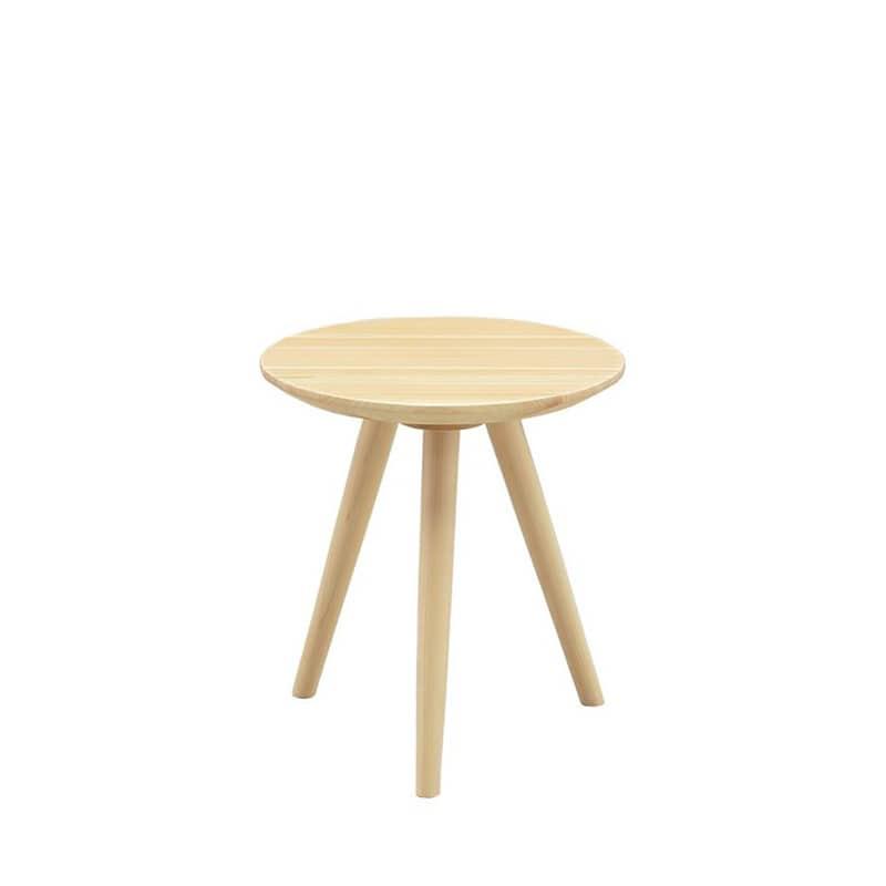 サイドテーブル 柚40サイドテーブル LBR:国産ヒノキの優しさを最大限に活かしたテーブル