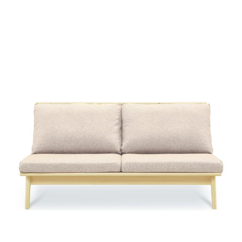 2人掛けソファ 柚160ソファ LBR/WH:全て国産ヒノキ無垢材を使用したソファ。