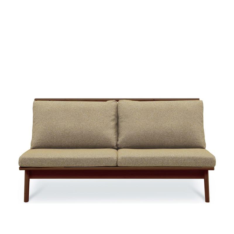 2人掛けソファ 柚160ソファ MBR/GRE:全て国産ヒノキ無垢材を使用したソファ。