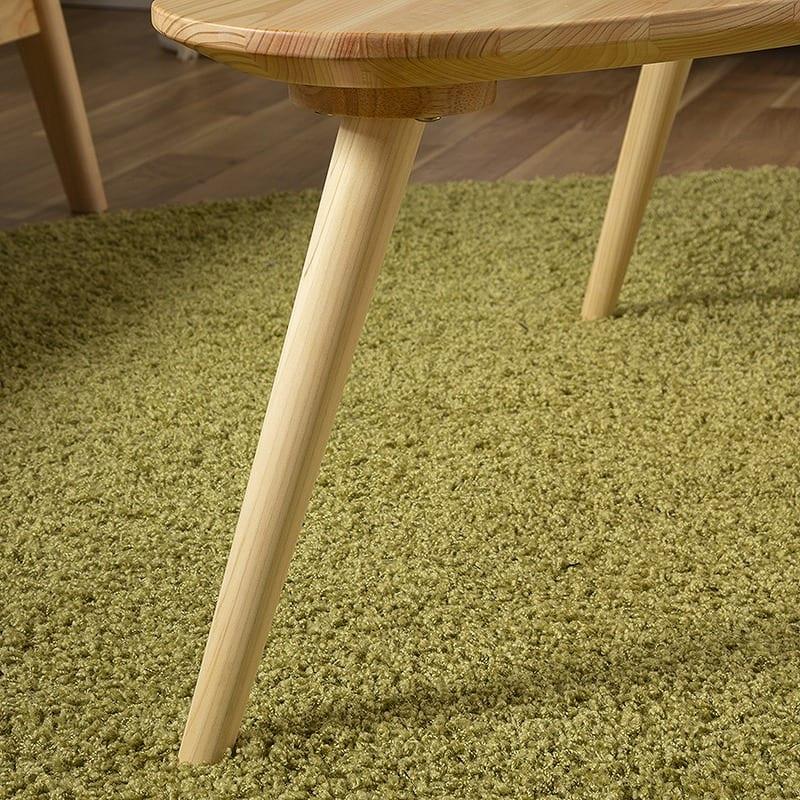 リビングテーブル 柚100センターテーブル MBR:脚部はスッキリデザイン