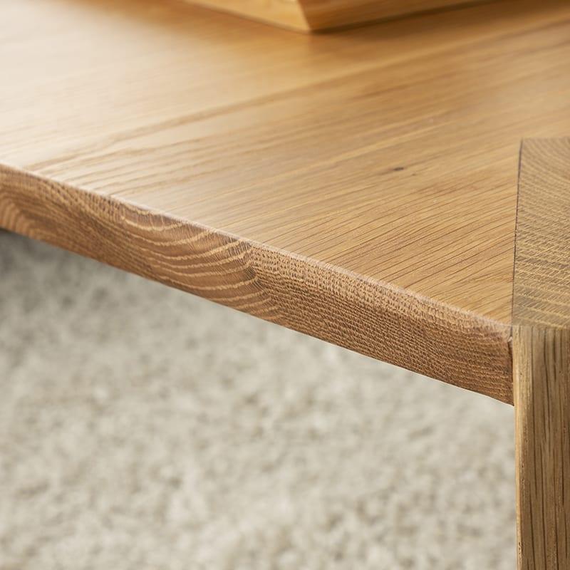 リビングテーブル ビスタ リビングテーブル120 OAK:縁もオシャレデザイン♪