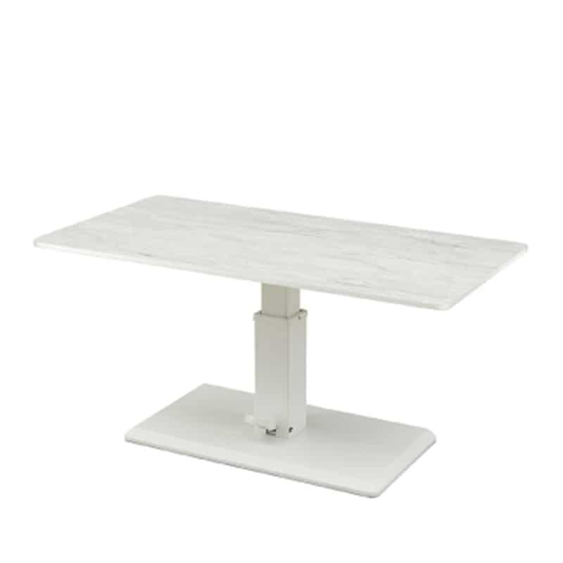 昇降式リビングテーブル ラディア WH