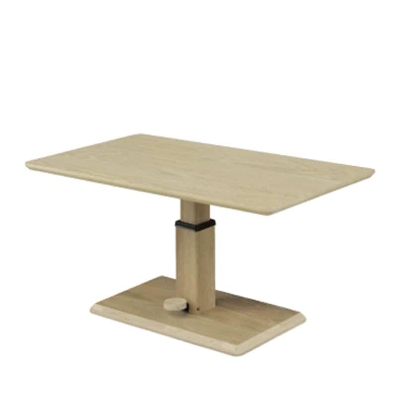 昇降式リビングテーブル ミルス WH