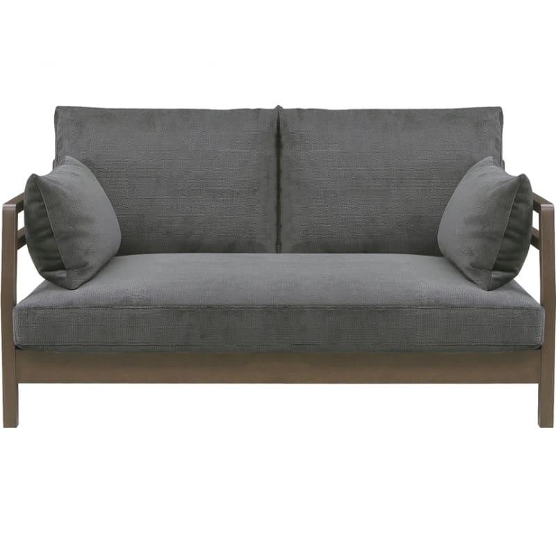 【ネット限定】2人掛けソファー フロート:木肘でセパレートでもシェーズロングとしても組替え可能なソファー