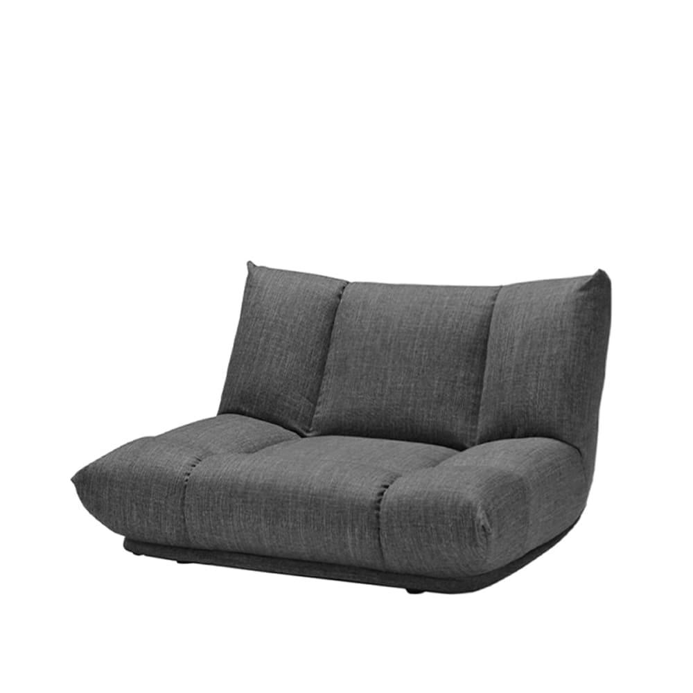 1人掛けソファ GR/レイナ ローバック GRY:身体を預けて座れるしっかりとした座り心地