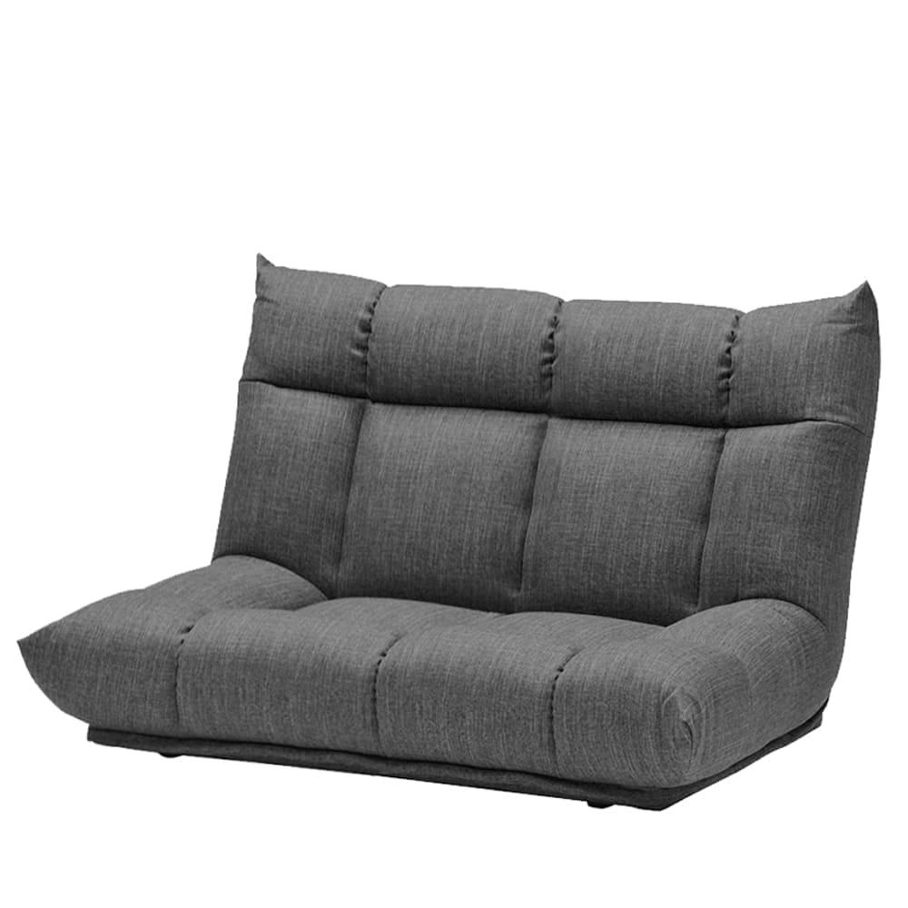 2人掛けソファ GR/レイナ ハイバック GRY:身体を預けて座れるしっかりとした座り心地