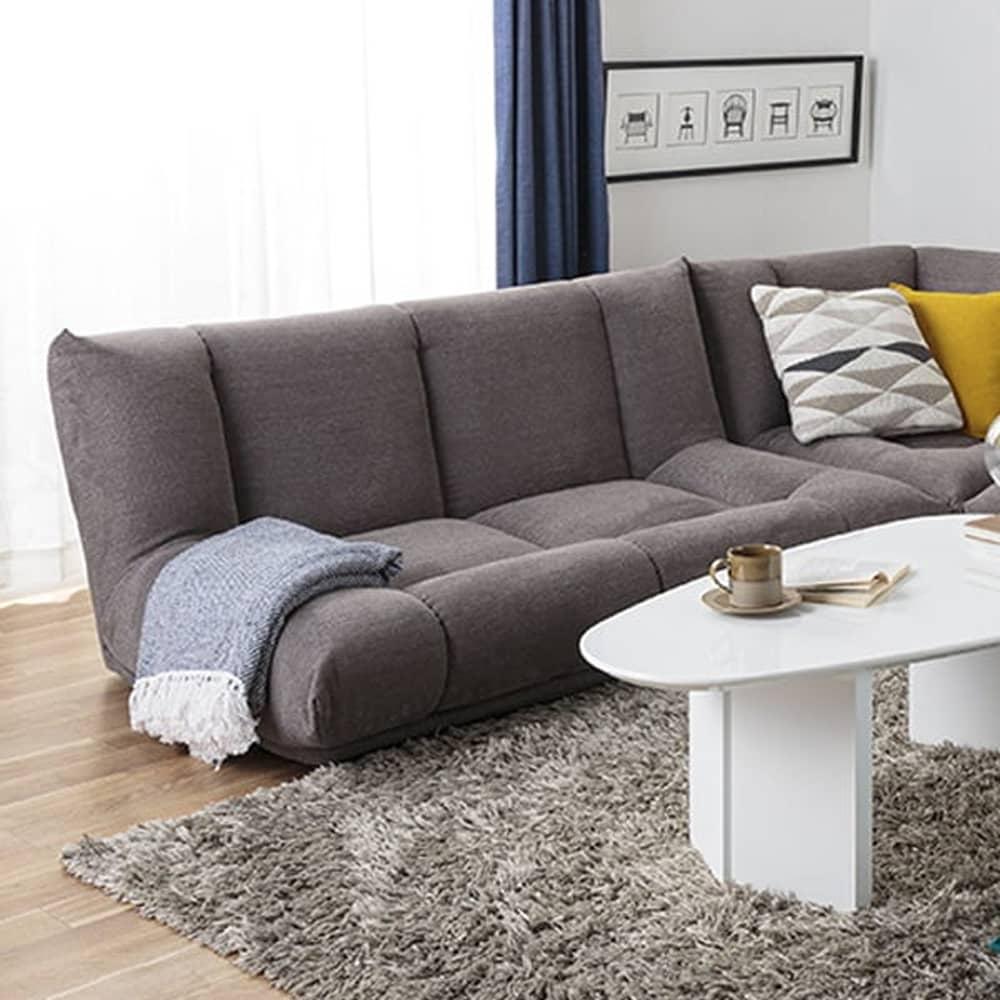 2人掛けソファ GR/レイナ ローバック GRY:身体を預けて座れるしっかりとした座り心地
