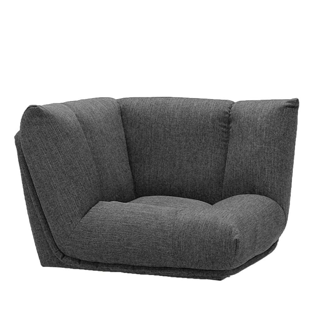 コーナーソファー GR/レイナ GRY:身体を預けて座れるしっかりとした座り心地