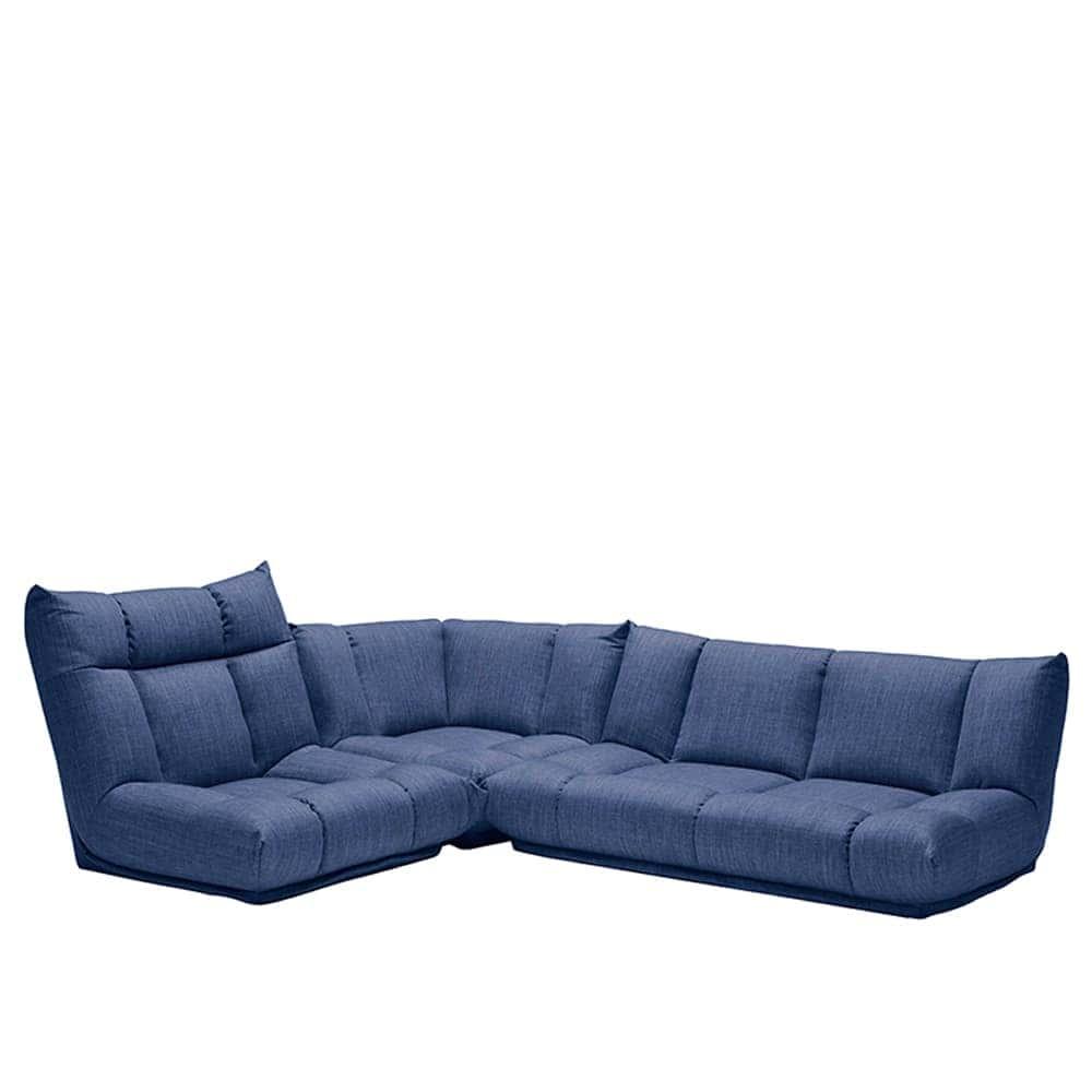 コーナーソファー3点SET GR/レイナ1PH+2PL+C NB:身体を預けて座れるしっかりとした座り心地
