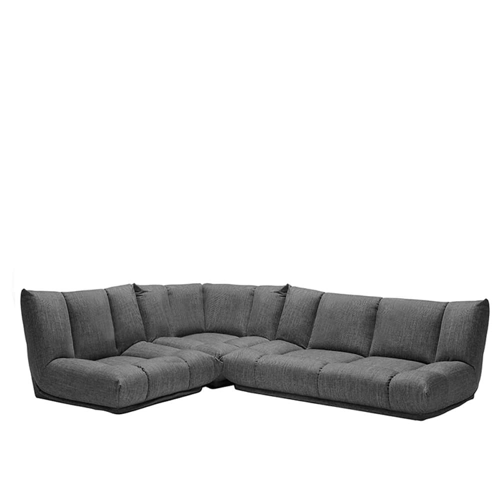 コーナーソファー3点SET GR/レイナ1PL+2PL+C GRY:身体を預けて座れるしっかりとした座り心地