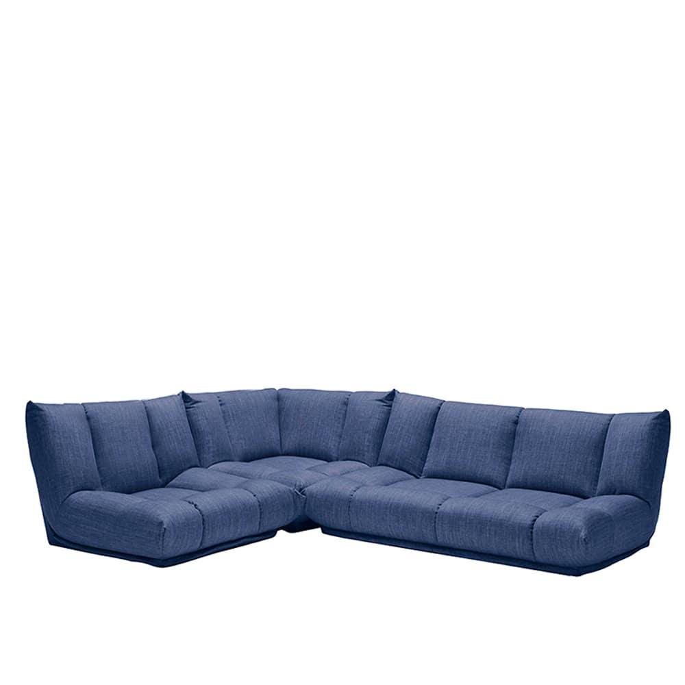 コーナーソファー3点SET GR/レイナ1PL+2PL+C NB:身体を預けて座れるしっかりとした座り心地