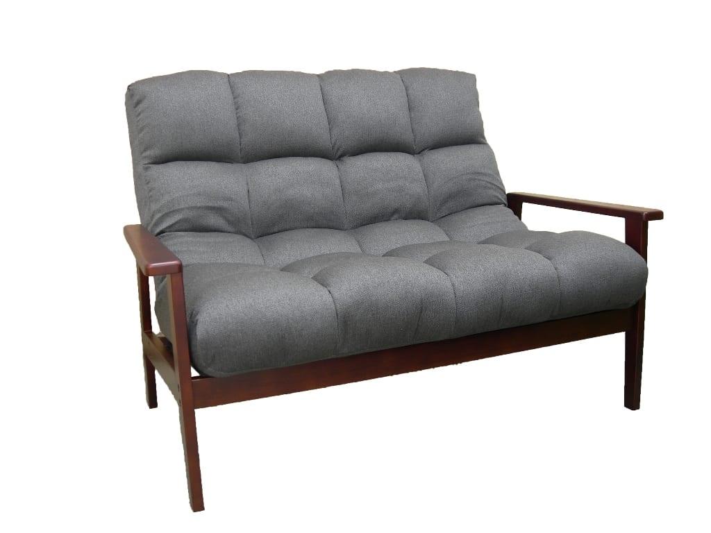 ハイバック木肘ソファ アーデント:『座り心地ふんわり ハイバックソファ』