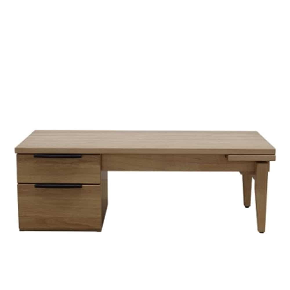 リビングテーブル デイジー110伸張センターテーブルLBR:テレワークとリビングテーブルの兼用ができる商品です