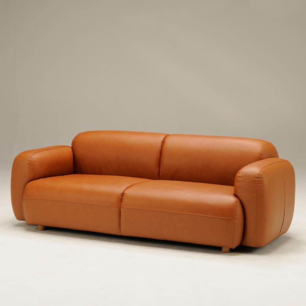 3人掛けソファ RAINY 3P BR:かわいらしい北欧デザインソファー