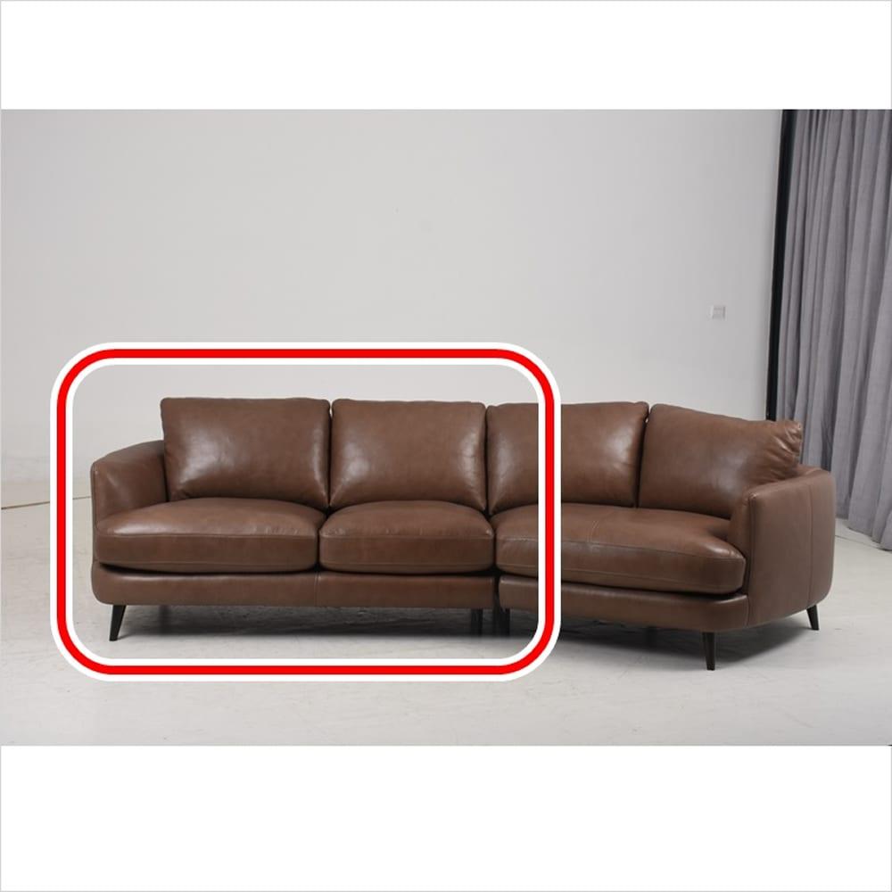 片肘2人掛けソファ マーキュリーN 向かって左 DB脚 基本色 SK−471E:全体的に柔らかなクッション性が特徴です。