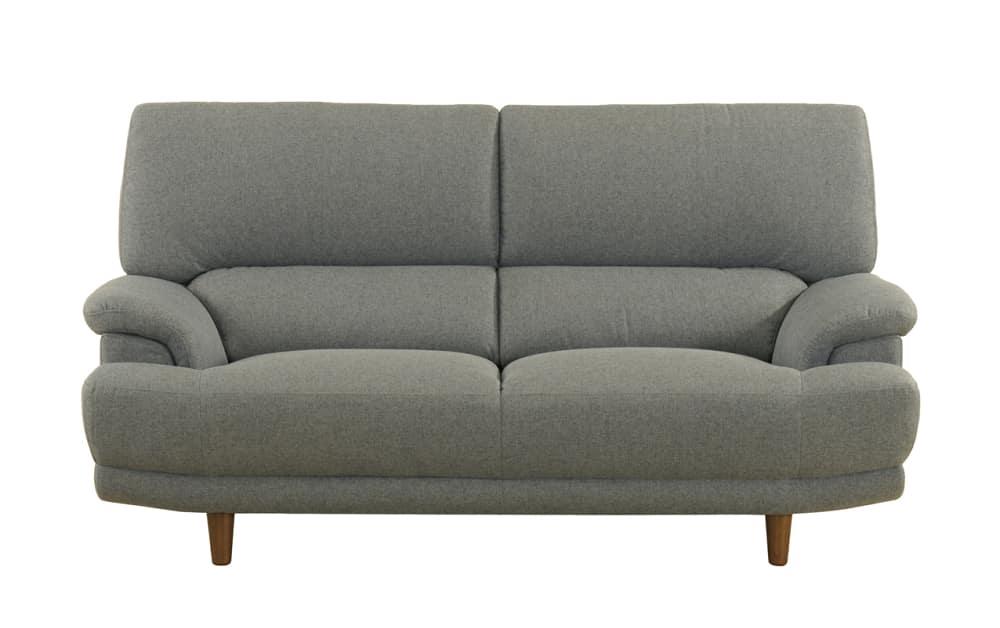 2.5人掛けソファー デビュー077 2.5S ハイタイプSH42 BGY:座面エイトウェイコイルスプリング仕様で安定感のある座りです