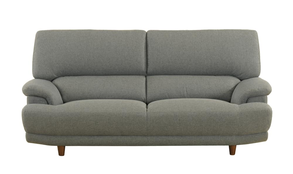 3人掛けソファー デビュー077 3S ロータイプSH38 BGY:座面エイトウェイコイルスプリング仕様で安定感のある座りです