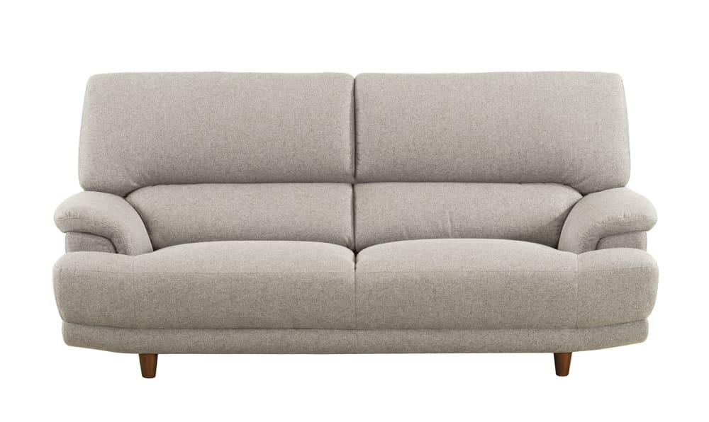 3人掛けソファー デビュー077 3S ロータイプSH38 BE:座面エイトウェイコイルスプリング仕様で安定感のある座りです