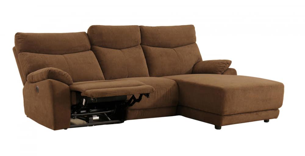 モーション付シェーズロングソファ アストラLシェーズモーション付BR:座面はポケットコイル仕様でソフトな座り心地です。