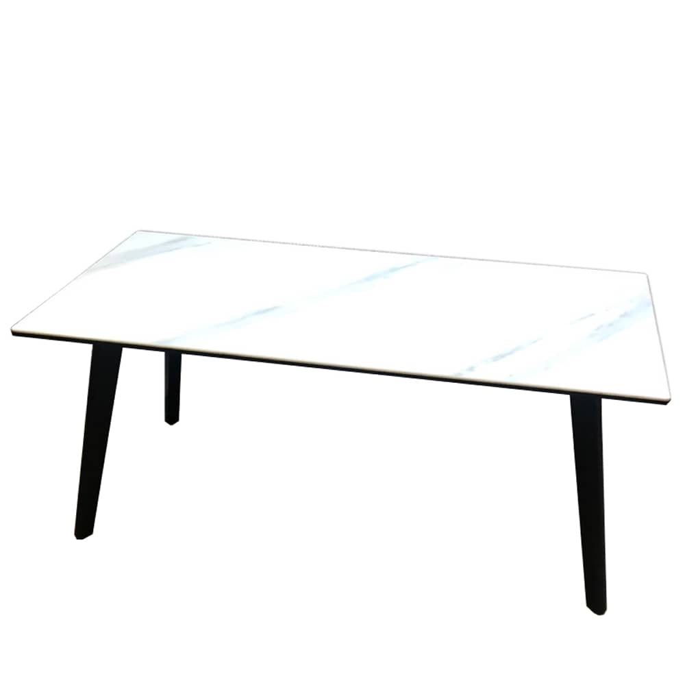 リビングテーブル コルドバ100CSRT WH:天板面に非常に強度のあるセラミック素材を採用
