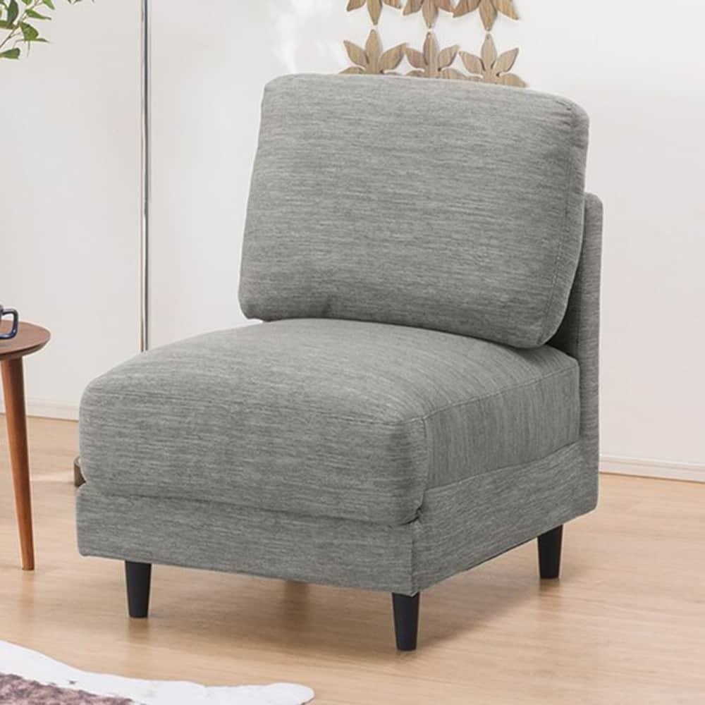 【ニトリ】 1人掛けソファ 肘無 CA10 DR−GY グレー:お部屋のスペースや使い方に合わせて、色々な組み合わせが選べます。