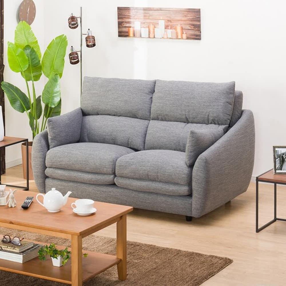 【ニトリ】 2人掛けソファ 2Pソファ Nポケット A9H DR−GY グレー:柔らかさと弾力性を合わせたベッドのような心地よさのソファ。