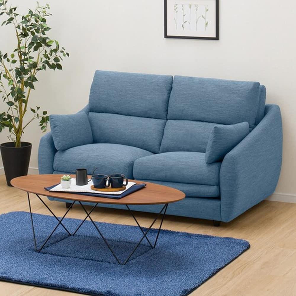 【ニトリ】 2人掛けソファ 2Pソファ Nポケット A9H DR−LBL ライトブルー:柔らかさと弾力性を合わせたベッドのような心地よさのソファ。