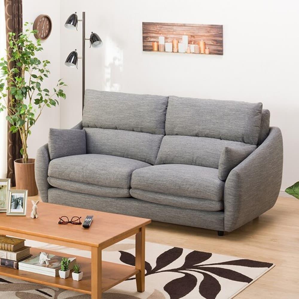 【ニトリ】 3人掛けソファ 3Pソファ Nポケット A9H DR−GY グレー:柔らかさと弾力性を合わせたベッドのような心地よさのソファ。