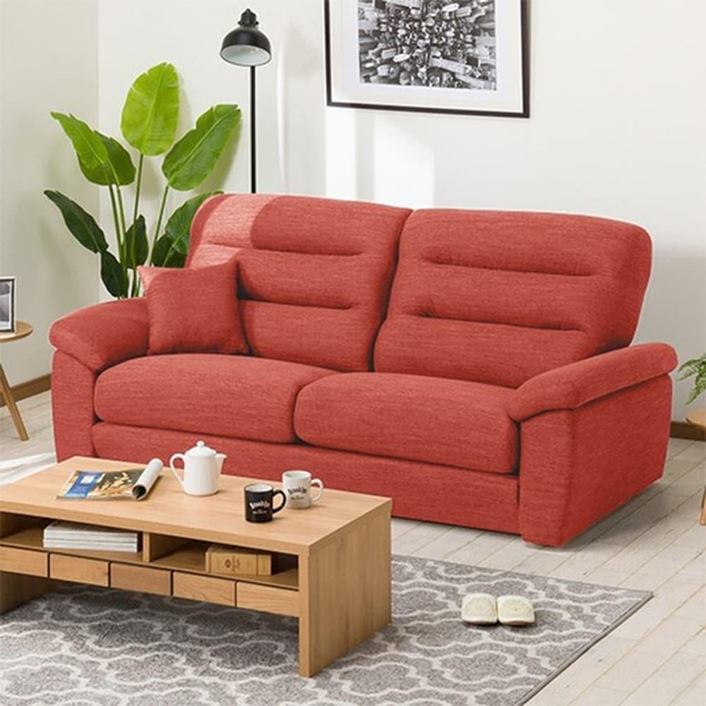 【ニトリ】 3人掛けソファ(クッション1個付) Nポケット A12 H−LO DR−RED 2レッド:お好みの座面の高さ&固さが選べるソファ。