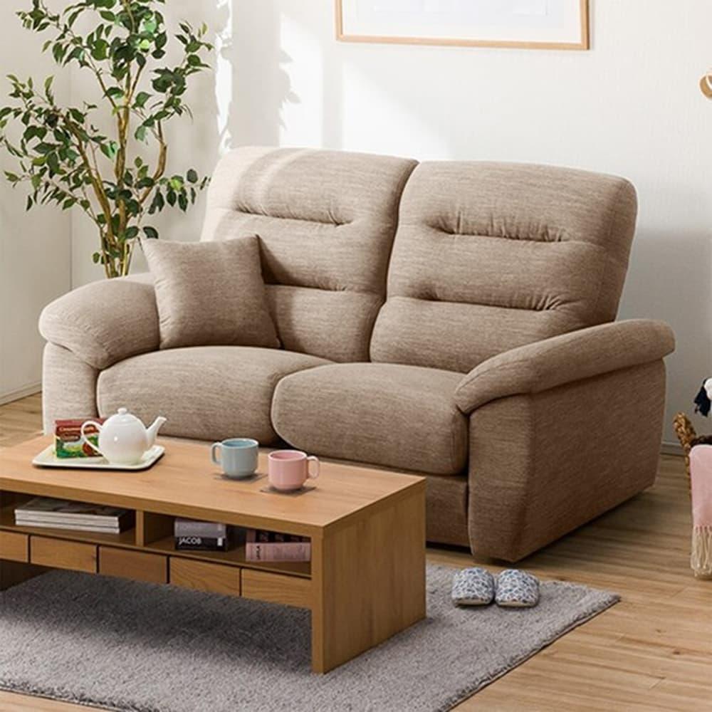 【ニトリ】 2人掛けソファ(クッション1個付) Nポケット A12 S−LO DR−BE ベージュ:お好みの座面の高さ&固さが選べるソファ。