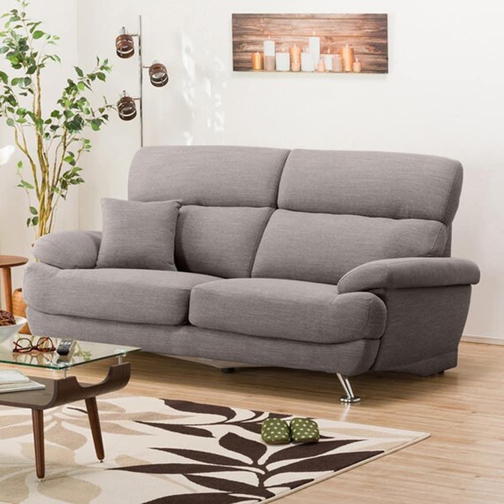 【ニトリ】 3人掛けソファ(クッション1個付) Nポケット A13 DR−GY グレー:座面には横になってもベッドような心地良さのポケットコイルを使用。