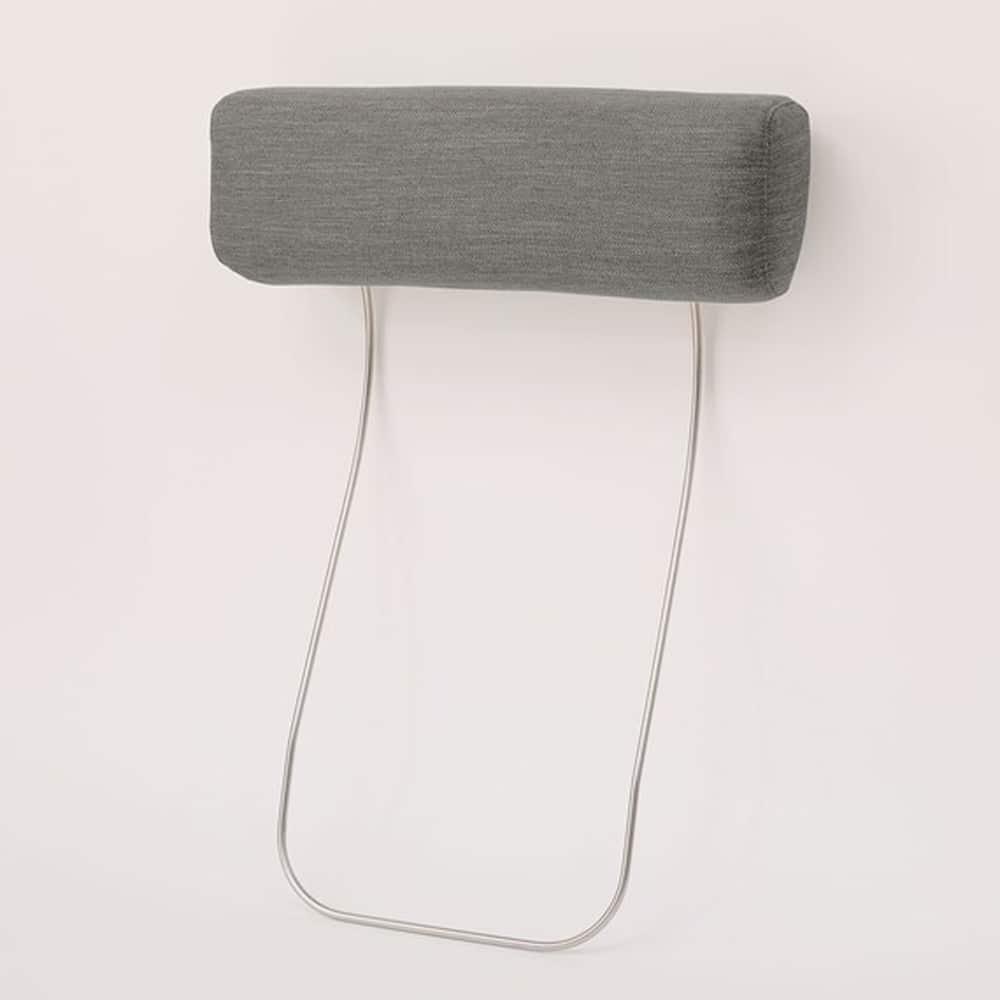 【ニトリ】 別売りヘッドレストA15用 DR-GY グレー:ヘッドレストを使用しハイバックタイプとして