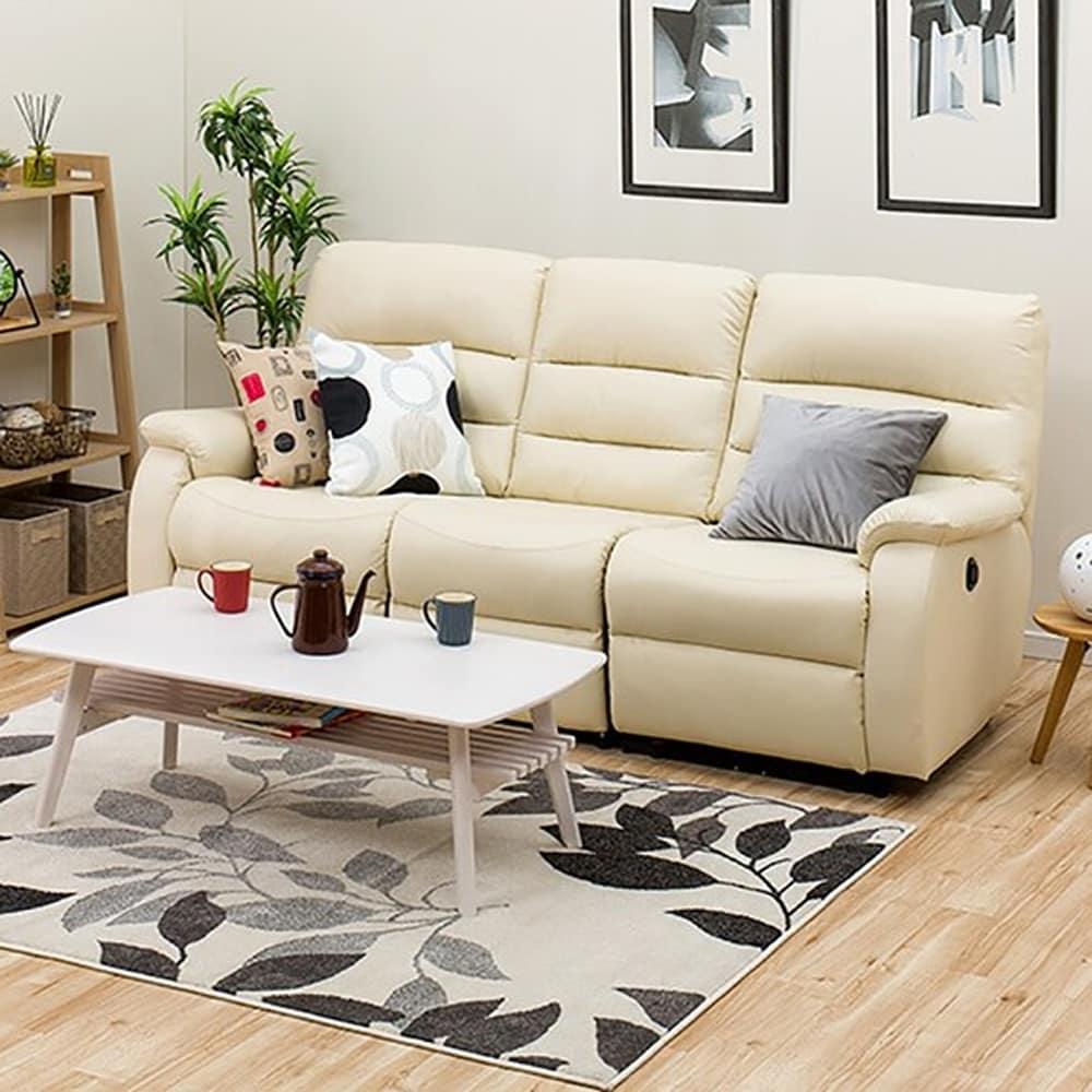:体圧分散性に優れたリクライニングソファ、快適な座り心地。