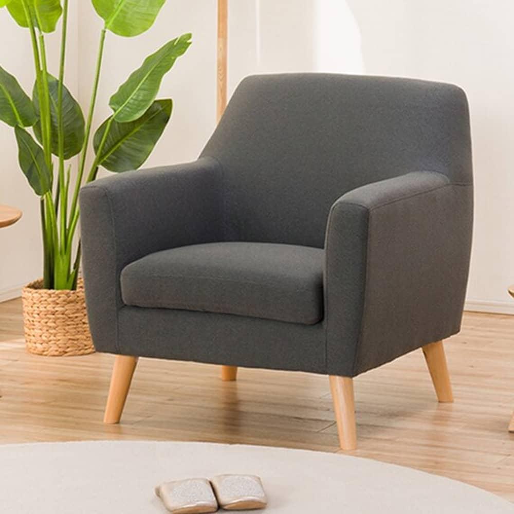 【ニトリ】 アクセントチェア コルポ DGY ダークグレー:どんなお部屋にも馴染みやすいシンプルデザイン
