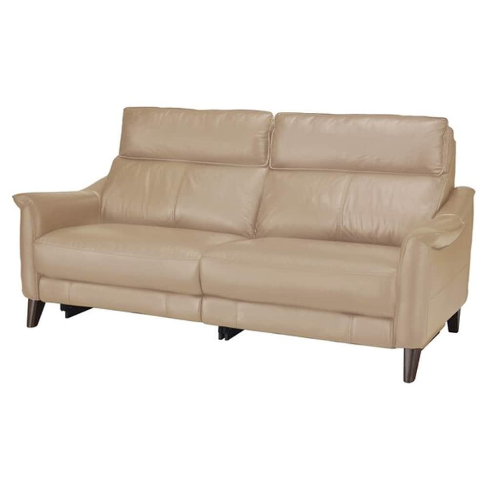 【ニトリ】 3人掛けソファ チェリーブ 革:NV BE ベージュ:表面強度のあるしなやかな革を使用。