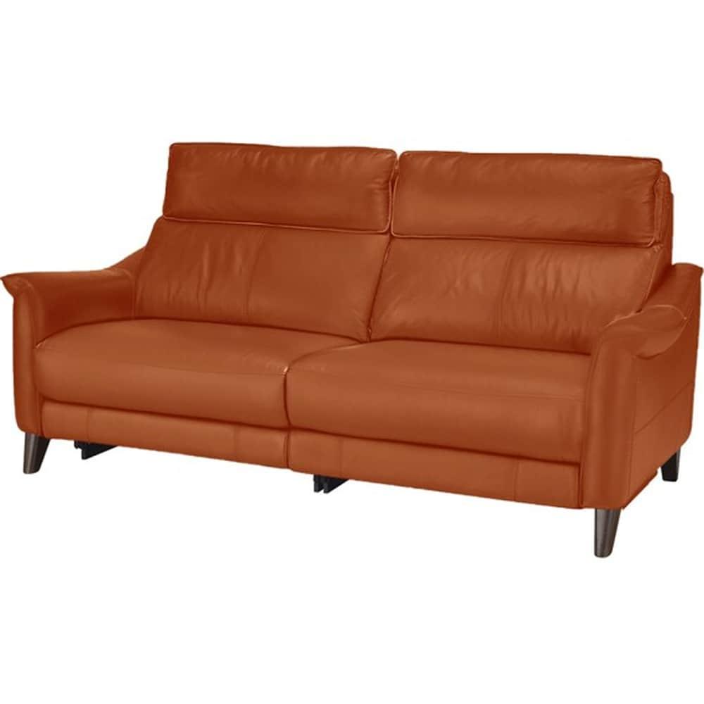 【ニトリ】 3人掛けソファ チェリーブ 革:SK BR ブラウン:表面強度のあるしなやかな革を使用。