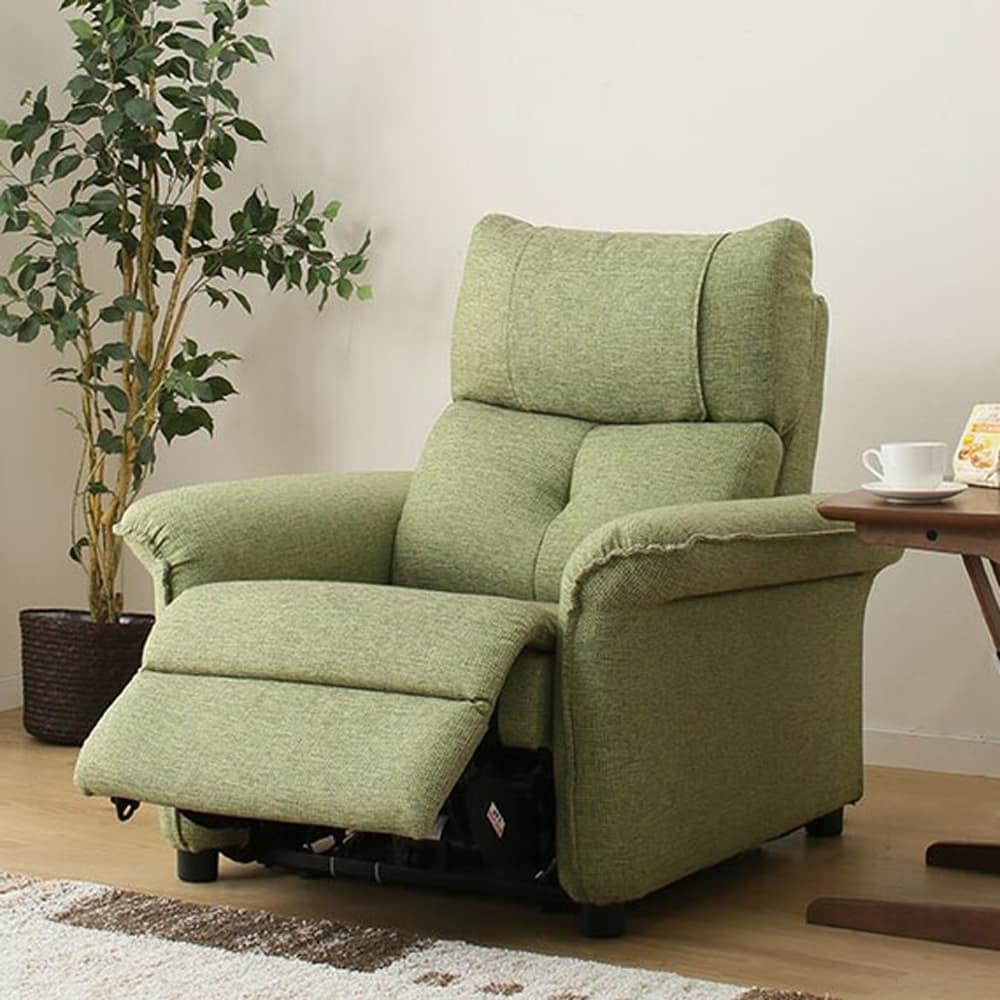 【ニトリ】 1人用リクライニングソファ ピュール GR グリーン:ゆったり極上のくつろぎをお届けする、電動リクライニングソファ
