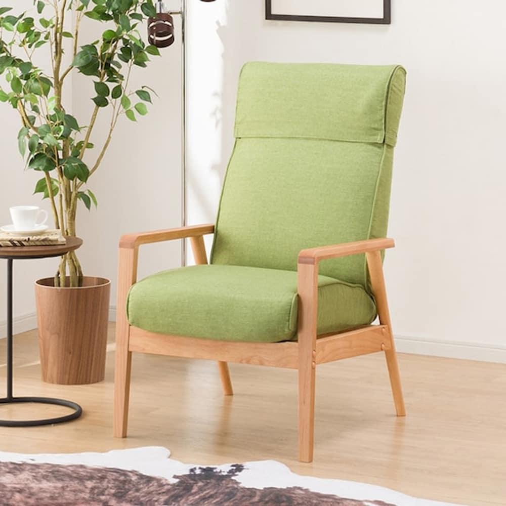 【ニトリ】 パーソナルチェア アルナス A-GR/LBR イエローグリーン/ライトブラウン:ぬくもりを感じる素材で優しい空間を演出