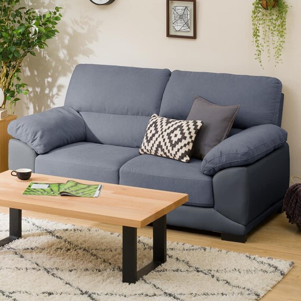 【ニトリ】 2人用ソファ 2Pソファ ウォール3KD GY グレー:フィット感のある座り心地のソファです