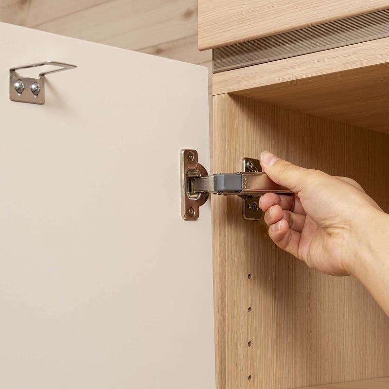 パモウナ 壁面収納 TVボード【上部オープン】 CA−1201 W(パールホワイト):右開きから左開きへ変更