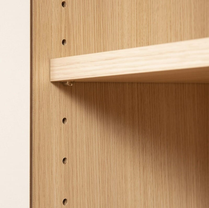 パモウナ 壁面収納 キャビネット CA−800 W(パールホワイト):高さ調節自由自在